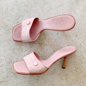🌸 CHANEL CC Logo Sandals Heels Mules size 39.5